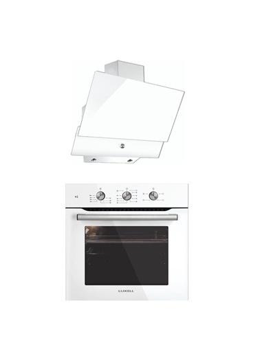 Luxell Lüxell Kristal Beyaz İkili Ankastre Set (Fırın+Davlumbaz) Renkli